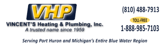 Vincent's Heating & Plumbing 2650 Oak Street Port Huron, MI 48060 - Phone: 810-488-7913